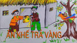 Vẽ tranh SỰ TÍCH ĂN KHẾ TRẢ VÀNG/ Vẽ tranh VỢ CHỒNG NGHÈO/ DO NHAT KHANH -  YouTube