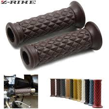 vintage retro hand grip motorcycle grips 7 8 22mm brown diamond handlebar hand grip and bar ends