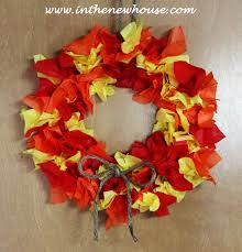 Fall Wreath Diy Tissue Paper Fall Wreath In The New House Designs