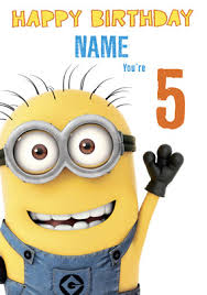 Send Minions Birthday Cards For Kids Funky Pigeon