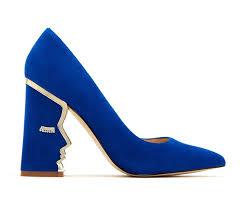 Blue Designer Heels Eclectic Klein Blue Pumps With Quirky Heel Design Blue