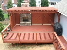 covered deck a partially covered deck with outdoor fireplace covered back deck cost