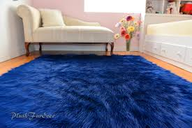 royal blue rug. Navy Blue Rich Luxurious Shaggy Rectangle Area Rug Nonslip Royal