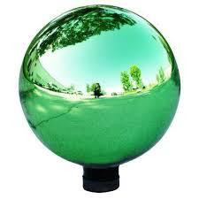alpine corporation electric green glass gazing globe