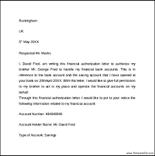 Letter Format Template Doc New Authorization Letter For Bank Writing