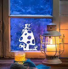Details Zu Fensterdeko Fensterbild Elfe Fee Fliegenpilz Sterne Weihnachten Kinder M1231