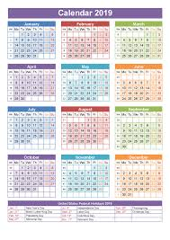 Printable School Year Calendars Printable School Calendar 2019 South Africa Printable
