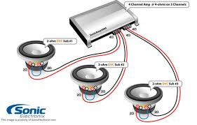 subwoofer wiring diagram single 4 ohm wiring diagrams subwoofer wiring diagrams one 4 ohm dual voice coil dvc speaker