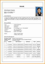 Free Download Biodata Format Resume Free Samples Download Job Resume