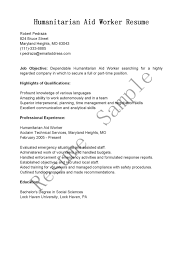 Aid Worker Sample Resume Resume Samples Humanitarian Aid Worker Resume Sample 1