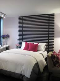 Unusual Master Bedroom Design With Headboard Wood Wall Cladding Panels  Painted With Black Color Decoration For Small Bedroom Spaces Ideas