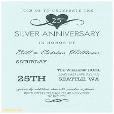 Anniversary Invitation Cards Samples 25th Wedding Templates
