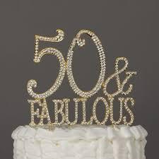 Ella Celebration 50 Fabulous Cake Topper Gold For 50th Birthday