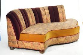 vintage art deco furniture. Image 1 : Vintage Jazz Style Kidney Shaped Art Deco Sofa With Shell Back Furniture G