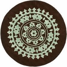 safavieh handmade soho chrono brown teal new zealand wool rug 6 x 6