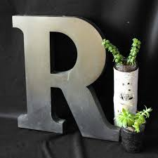 metal letter wall art Monogram Wall Decor Metal Letters Wall Decor