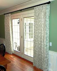 Hanging Curtains Over French Doors