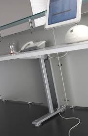reception desk active s 2 spazzola passacavi n1 gamba passacavi n2