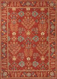 arts and crafts area rugs inspirational hand tufted arts and craft pattern wool red blue area rug