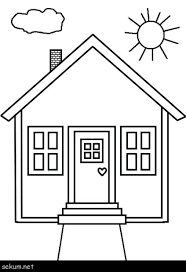 House Coloring Pages Printable House Coloring Page Coloring Pages