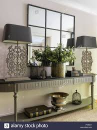 Console Table Lights Bespoke Painted Console Table From Bardoe Appel With Pair