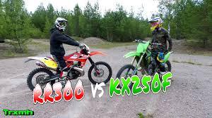 dirt bikes enduro beta rr300 vs mx kawasaki kx250f youtube