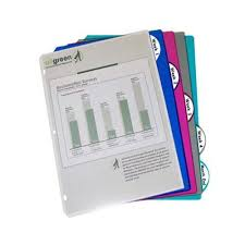 C Line Assorted 5 Tab Poly Binder Index Dividers 5pack