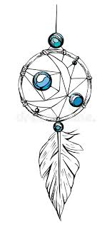 Dream Catchers Sketches Indian Dream Catcher American Indians Ethnic Sketch Style 21
