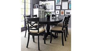 avalon 45 black round extension dining table reviews crate and barrel