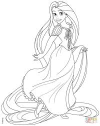 Small Picture Rapunzel from Disney Tangled coloring page Free Printable