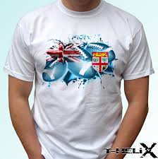 Fiji T Shirt Designs Us 11 89 15 Off Fiji Rugby Flag White T Shirt Top Tee Football Design Mens Cool Casual Pride T Shirt Men Unisex New Fashion Tshirt Loose Size In