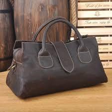 cowhide genuine leather travel tote women or men vintage carry on travel duffle bag weekend large