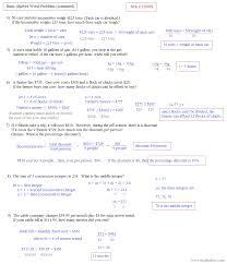 algebra 1 worksheet linear equation word problems answers feb 2017
