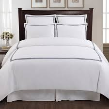 com echelon home three line hotel collection duvet cover set king navy home kitchen