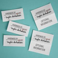 personalized fabric tags, quilt labels, sewing label, crochet ... & $16.00+ Adamdwight.com