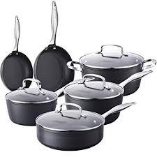 is anodized cookware safe. Modren Cookware COOKSMARK 10Piece Pots And Pans Set Kingbox HardAnodized Aluminum  Nonstick Dishwasher Inside Is Anodized Cookware Safe A