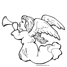 coloring page   christmas angel coloring pages    clip art librarychristmas angel graphics