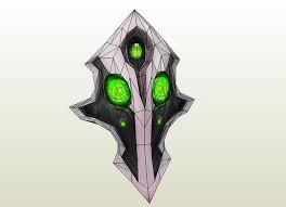dota 2 rubick the grand magus mask ver 3 free papercraft download