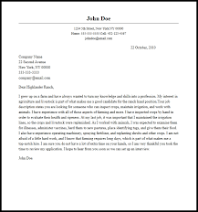 Professional Ranch Hand Cover Letter Sample