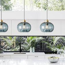 casamotion mini pendant light handblown rustic seeded glass drop ceiling lights hanging light with black sand