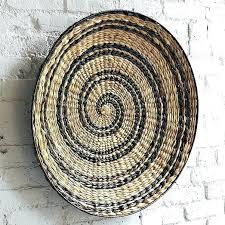 decoration decorative wall baskets bowl art west elm brackets for hanging