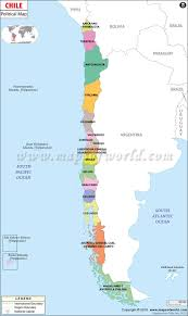 political map of chile  chile regions map