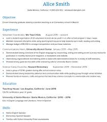 Teacher Resume Samples In Word Format How to Create an ESL Teacher Resume that Will Get You the Job Go 93