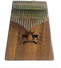 NDFDG <b>17 Keys Kalimba Thumb Piano</b> Mahogany Body Deer ...