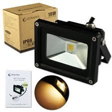 zitrades ip66 waterproof 10w dc 12v warm white led flood light outdoor lights black case