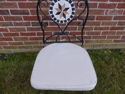 garden furniture chair cushion seat pad round back for plastic garden chairs 42x41x5