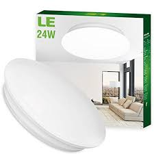 LE 24W 16 Inch Daylight White LED Ceiling Lights, 180W Incandescent (50W  Fluorescent) Bulb Equivalent, 2000lm, 6000K, Ceiling Light Fixture, ...