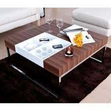Modern Contemporary Walnut Coffee Table w/ Flip Tray - eBay