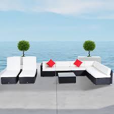 9 Pcs Rattan Wicker Sofa Outdoor Sectional Patio Furniture Lounge