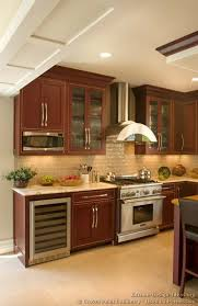 wonderful decoration kitchen backsplash ideas cherry cabinets with gray wall and quartz countertops